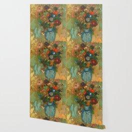 "Odilon Redon ""Fleurs dans un vase bleu"" Wallpaper"