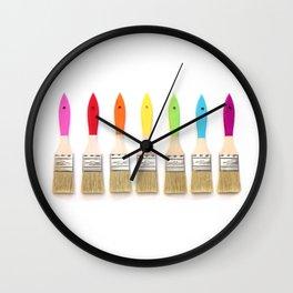 Paint the Rainbow Wall Clock