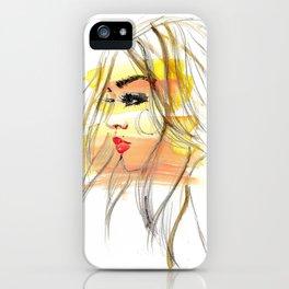 Sunset Girl 1 iPhone Case