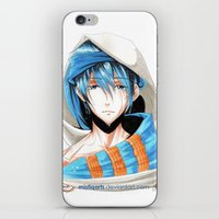 iwatobi iPhone & iPod Skins featuring Free! Iwatobi Swim Club Haruka by Mistiqarts