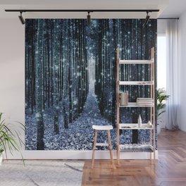 Magical Forest Teal Indigo Elegance Wall Mural