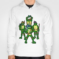 teenage mutant ninja turtles Hoodies featuring Teenage Mutant Ninja Turtles by beetoons