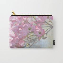 Subtle Pink Floral Carry-All Pouch