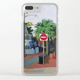 Corner Palm Clear iPhone Case