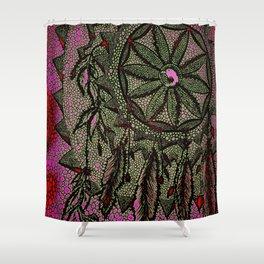 Sunset Dreamcatcher - enhanced Shower Curtain