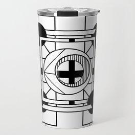 Cornerstone - Minimalist Geometric Abstract Travel Mug