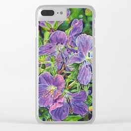 Six Wild Geraniums Clear iPhone Case