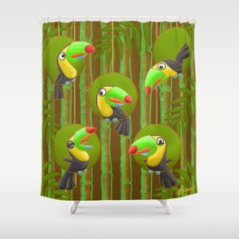 Toucan Party! Shower Curtain