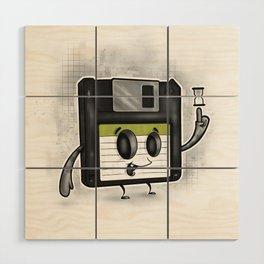 Floppy Disc Dave Wood Wall Art