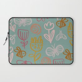 Bee with Flowers Laptop Sleeve