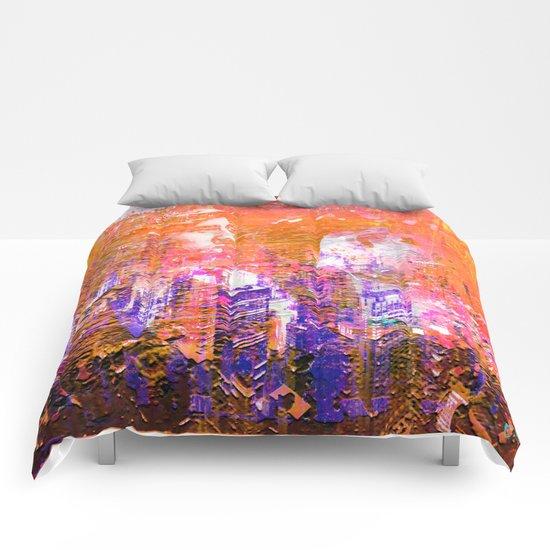 """"""" Honeymoon in New York """"  Comforters"""