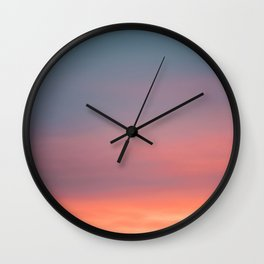 Colorful sunrise | Wanderlust fine art print photography | Sunset sky Wall Clock
