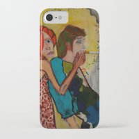 cigarette iPhone & iPod Cases featuring cigarette by Samantha Sager