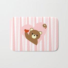 Valentine bear pink Bath Mat