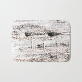Ghost white abstract watercolor Bath Mat