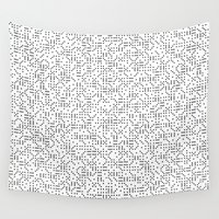 polkadot Wall Tapestries featuring Polkadot Dominos by chelsea dawn brown