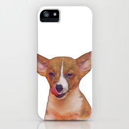 winking puppy iPhone Case