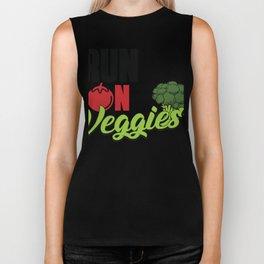 Runs on veggies plant vegetarian vegan herbivore Biker Tank