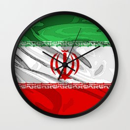 Iran Fancy Flag Wall Clock