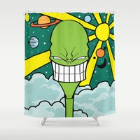 destiny Shower Curtains featuring Destiny by TheGreen