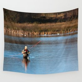Gone Fishing 3 Wall Tapestry