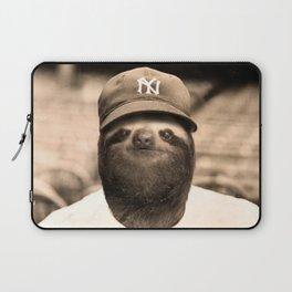 Baseball Sloth Laptop Sleeve
