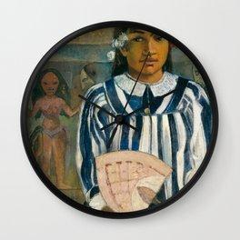 The Ancestors of Tehamana by Paul Gauguin Wall Clock