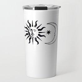magic sun and moon Travel Mug