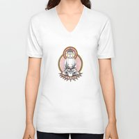 meditation V-neck T-shirts featuring Meditation.  by Lauren Williamson