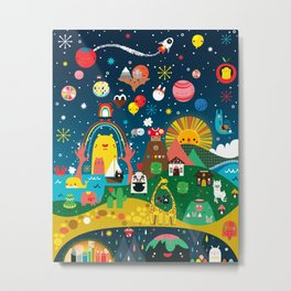 Super Mini Universe Print Metal Print