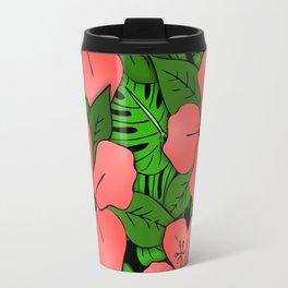 Hibiscus & Monstera Travel Mug