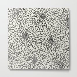 Abstract pattern in neutral colors Metal Print