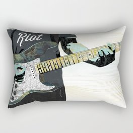 Music Piece of a Person Playing Guitar Rectangular Pillow