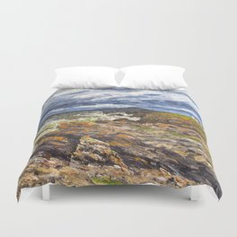 Wind swept sea Anglesey Gromlech Duvet Cover