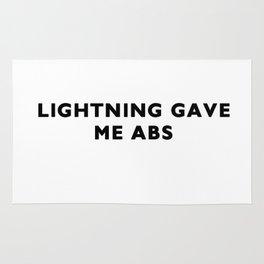 Lightning gave me abs Rug