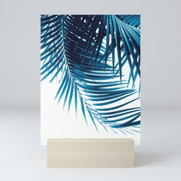 Palm Leaves Blue Vibes #1 #tropical #decor #art #society6 Mini Art Print