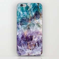Turquoise & Purple Quartz Crystal iPhone Skin