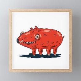 Haifa Pig Framed Mini Art Print