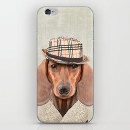 The stylish Mr Dachshund iPhone Skin