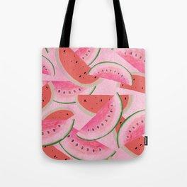 sweet pink watermelon pattern design Tote Bag