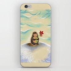 Hedgie + flower iPhone & iPod Skin