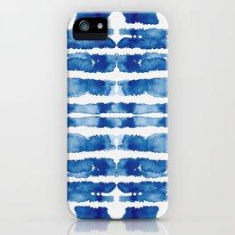 Shibori Vivid Indigo Blue and White iPhone Case