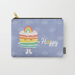 Happy Rainbow Cake Carry-All Pouch