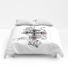 Gothic cross Comforters