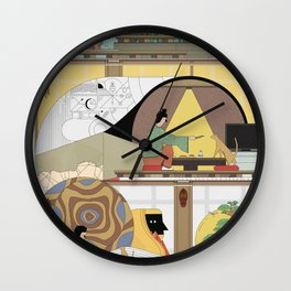 Shady winds Wall Clock