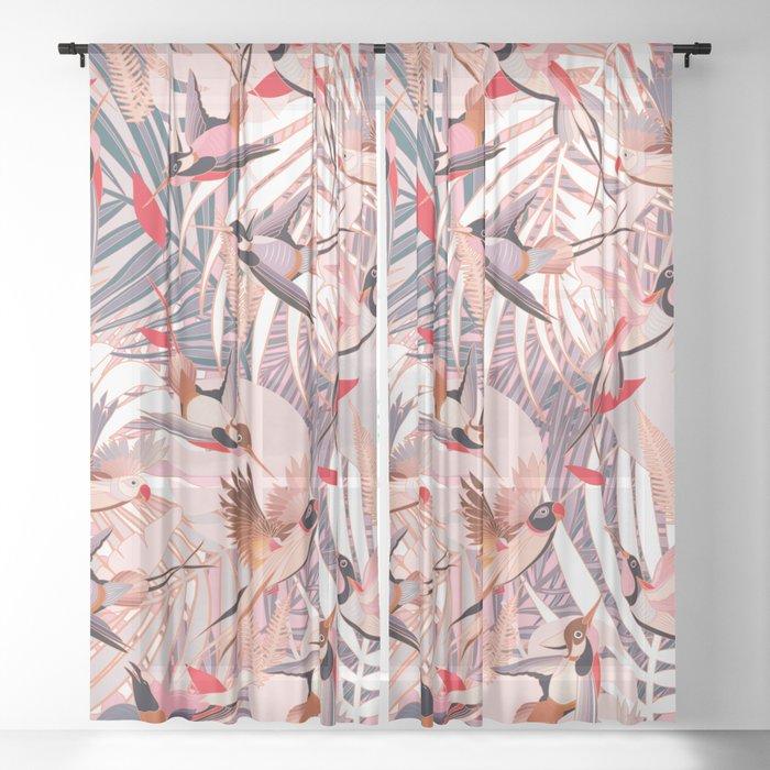 Tropical Mood II. Sheer Curtain