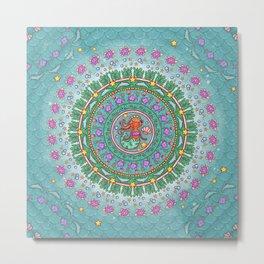 Mermaid Mandala Metal Print