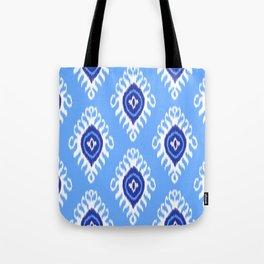 IKAT pattern 02, blue Tote Bag