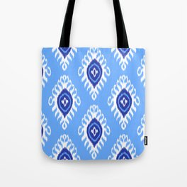 IKAT pattern 02, blue Tote Bag