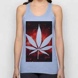 Weed : High Times Red Galaxy Unisex Tank Top